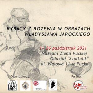 """Plakat wystawy czasowej """"Rybacy w obrazach Władysława Jarockiego"""""""
